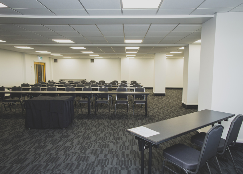 Breakout Room Two can be set in a number of different configurations and can accommodate up to 100 guests.