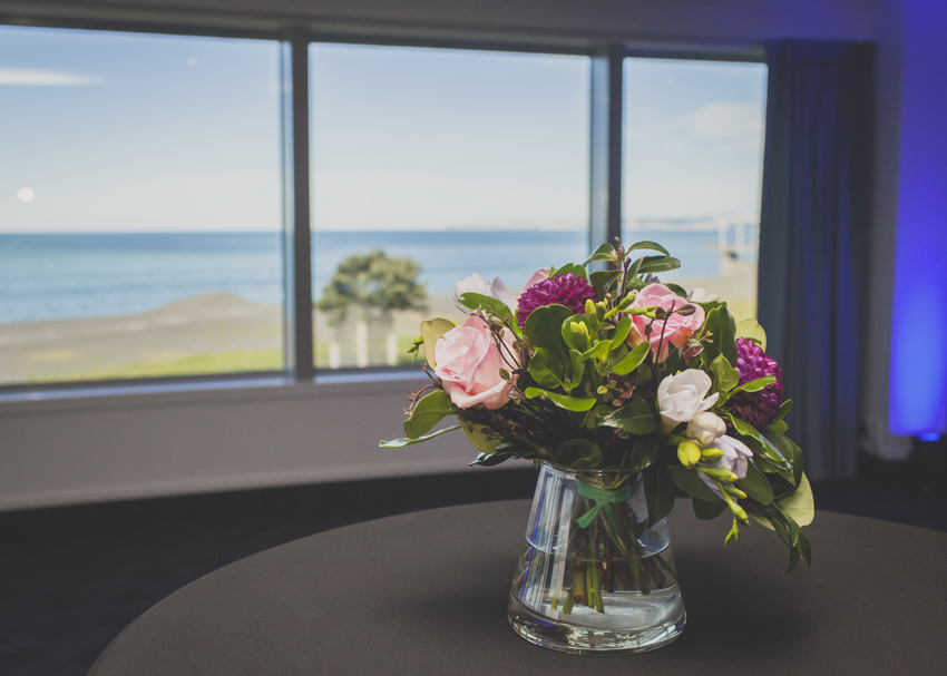 The beautiful sea view from the Napier Conference Centre ballroom
