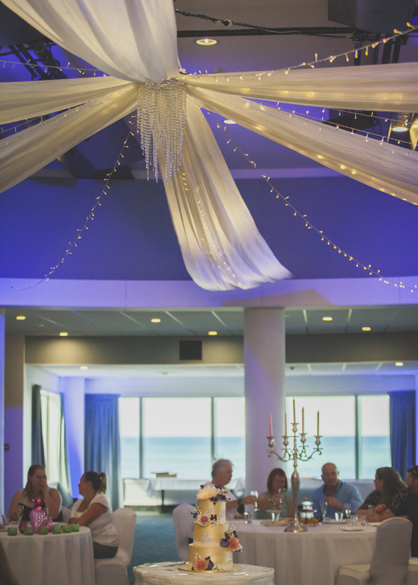 Dress the Napier Conference Centre ballroom with fairy lights and a silk canopy for your wedding.