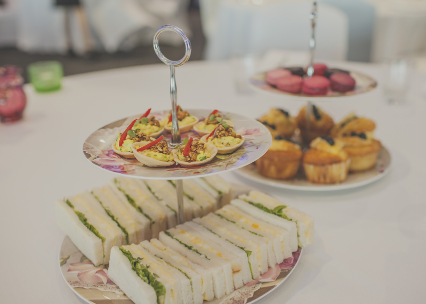 A high tea with finger sandwiches, savouries and gorgeous sweet offerings.