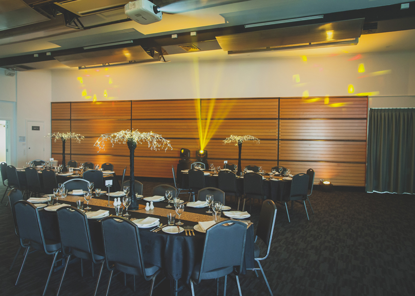 The Small Exhibition Hall is a flexible space ideal for presentations, small luncheons, and private dinners