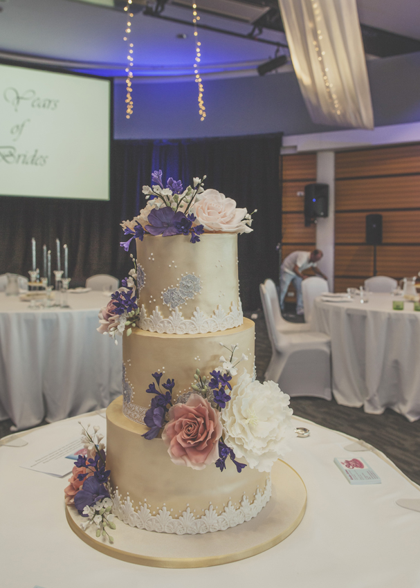 Wedding cake takes pride of place in the Napier Conference Centre Ballroom