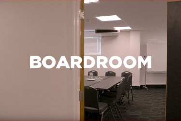 A virtual tour of the Napier Conference Centre's Boardroom